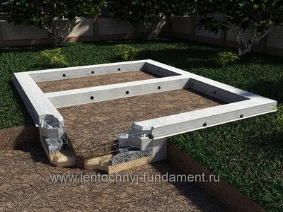 Ленточный фундамент под баню 6х5