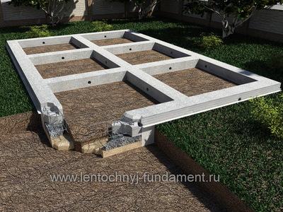 Фундамент под дом из бревна 9х7