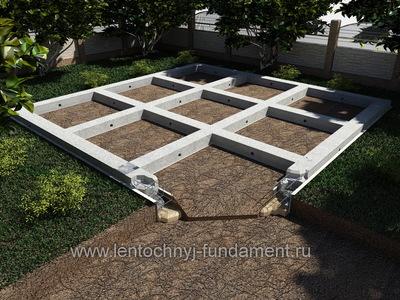 Ленточный фундамент под сруб 9х9