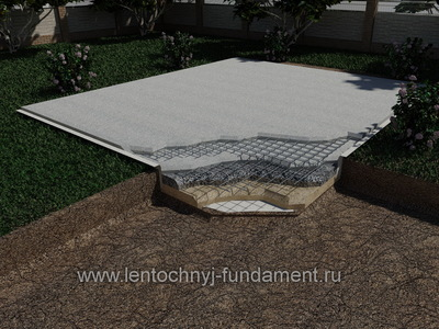 Фундамент плита c погребом 6х7