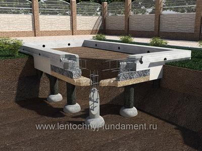 Cвайный фундамент из бетона 5х5