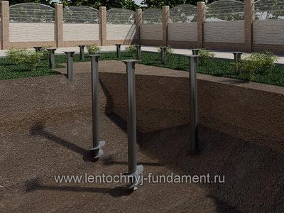 Свайный фундамент под веранду 3х6