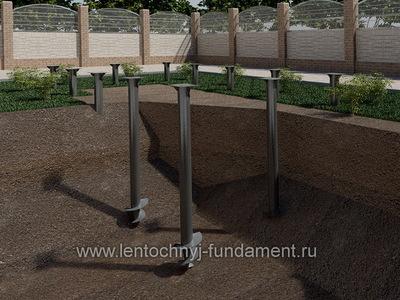 Винтовой фундамент под сруб 8х9
